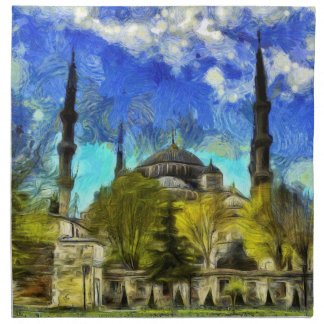 The Blue Mosque Istanbul Van Gogh Napkin