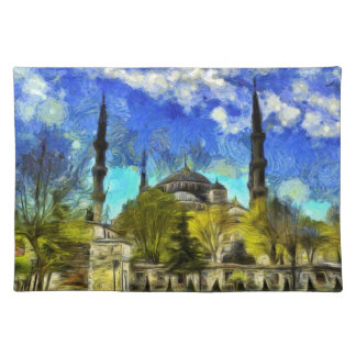 The Blue Mosque Istanbul Van Gogh Placemat