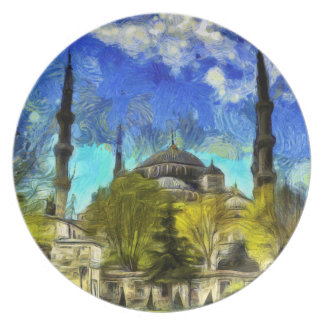 The Blue Mosque Istanbul Van Gogh Plate