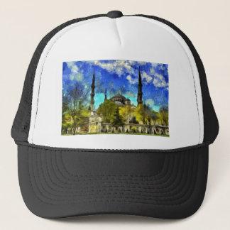 The Blue Mosque Istanbul Van Gogh Trucker Hat
