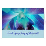 The Blue Orchid Bridemaid Notecard Card
