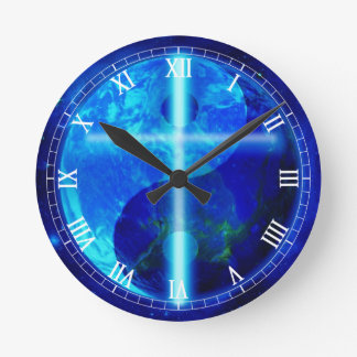 The Blue Planet Round Clock