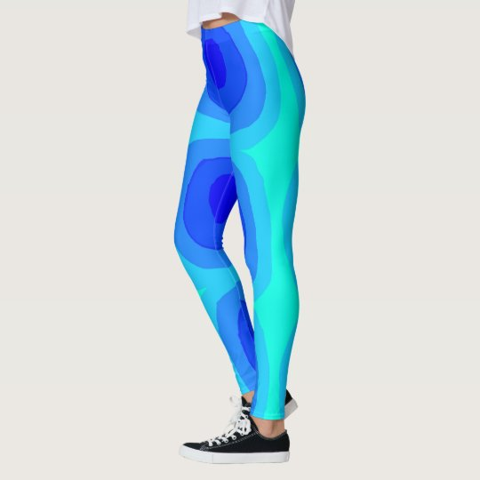 The Blue Swirly Leggings