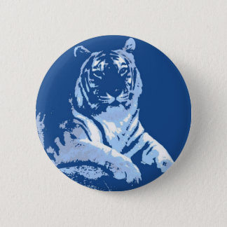 The Blue Tiger 2 Inch Round Button