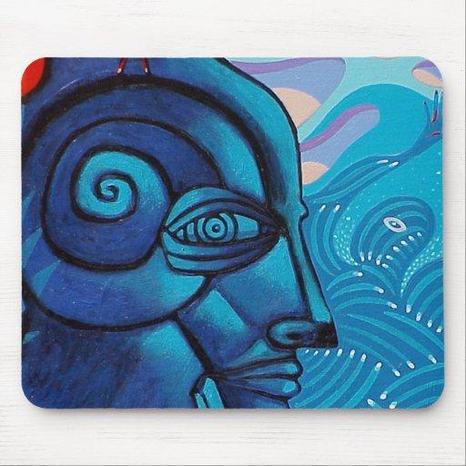 the blue tree spirit mousepad