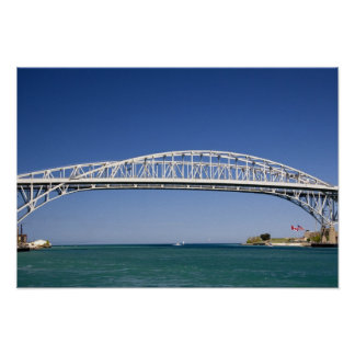 The Blue Water Bridge is a twin-span bridge Poster