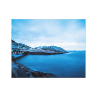 The blue water canvas print