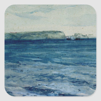 The Blue Waters of Plymouth, 19th Square Sticker