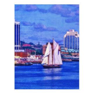 The Bluenose Sailboat Halifax Nova Scotia Canada Postcard