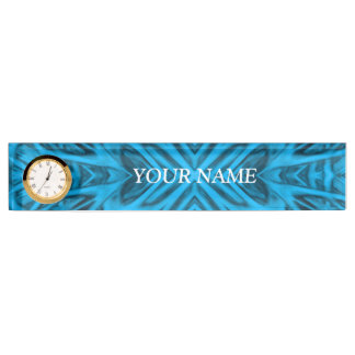 The Blues Desk Nameplate with Clock