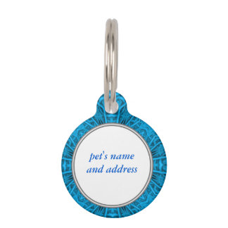 The Blues Vintage Kaleidoscope Dog Cat Tags