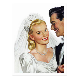 The Blushing Bride dances with the Groom Postcard