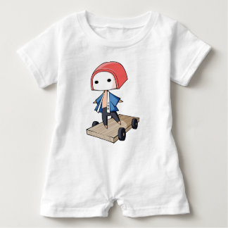 The bo of high class densely it is so English Baby Romper