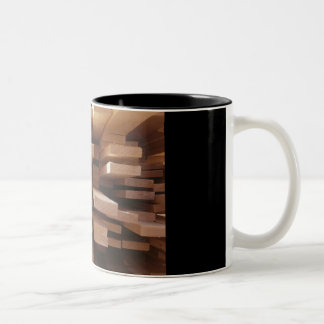 the board is made Two-Tone coffee mug