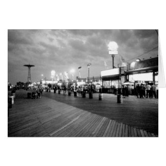 'The Boardwalk at Night' Blank Greeting Card