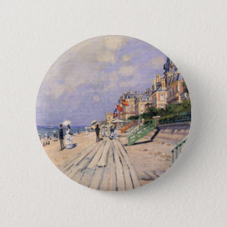 The Boardwalk at Trouville Claude Monet 2 Inch Round Button