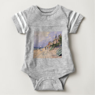 The Boardwalk at Trouville Claude Monet Baby Bodysuit