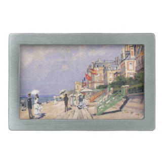 The Boardwalk at Trouville Claude Monet Belt Buckles