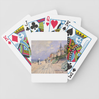 The Boardwalk at Trouville Claude Monet Bicycle Playing Cards