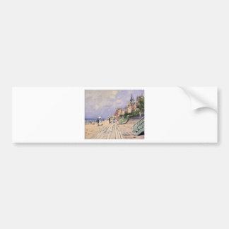 The Boardwalk at Trouville Claude Monet Bumper Sticker