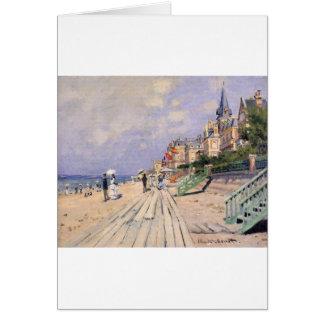 The Boardwalk at Trouville Claude Monet Card
