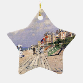 The Boardwalk at Trouville Claude Monet Ceramic Ornament