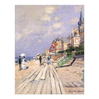 The Boardwalk at Trouville Claude Monet Letterhead
