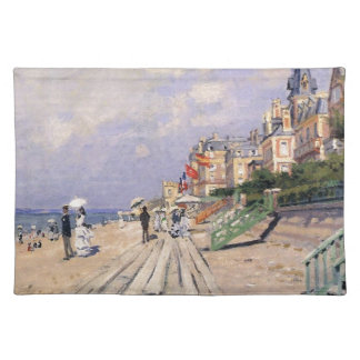 The Boardwalk at Trouville Claude Monet Placemat