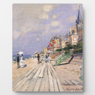 The Boardwalk at Trouville Claude Monet Plaque