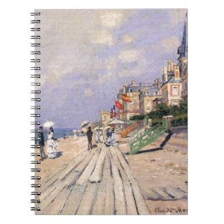 The Boardwalk at Trouville Claude Monet Spiral Notebook