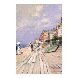 The Boardwalk at Trouville Claude Monet Stationery