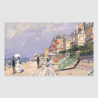 The Boardwalk at Trouville Claude Monet Sticker