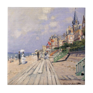 The Boardwalk at Trouville Claude Monet Tile