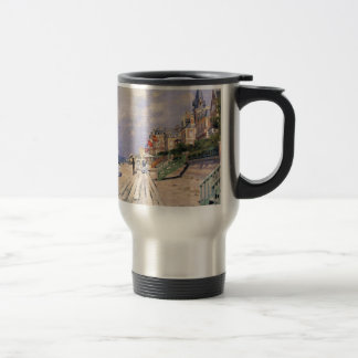 The Boardwalk at Trouville Claude Monet Travel Mug