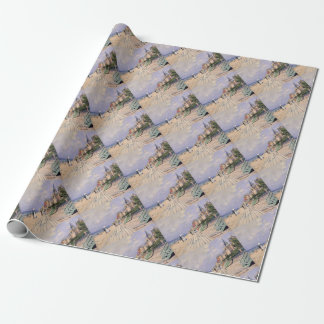 The Boardwalk at Trouville Claude Monet Wrapping Paper