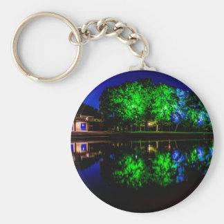 The Boathouse Basic Round Button Keychain