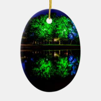 The Boathouse Ceramic Oval Ornament