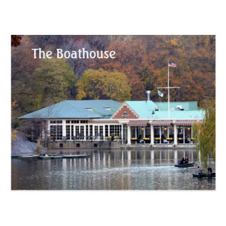 The Boathouse in the Park, Fall Photo Postcard
