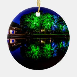 The Boathouse Round Ceramic Ornament