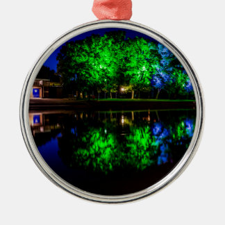 The Boathouse Silver-Colored Round Ornament