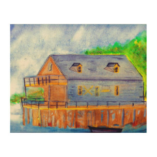 The Boathouse Wood Canvas