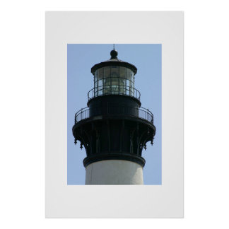 The Bodie Island Lighthouse lantern room. Poster