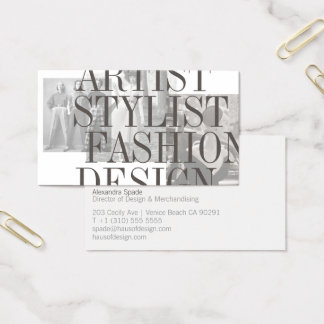 The Bold and Vintage Stylist Designer Card