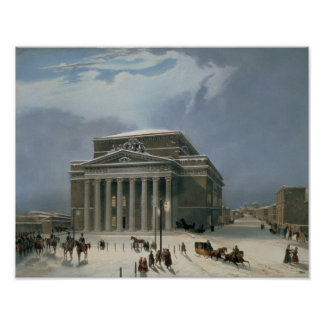 The Bolshoi Theatre in Moscow Poster