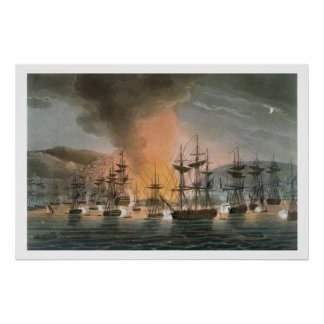 The Bombardment of Algiers, 27th August 1816, from Poster