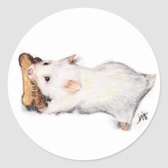 The Bone Thief (Hamster) Stickers