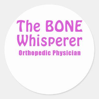 The Bone Whisperer Orthopedic Physician Classic Round Sticker