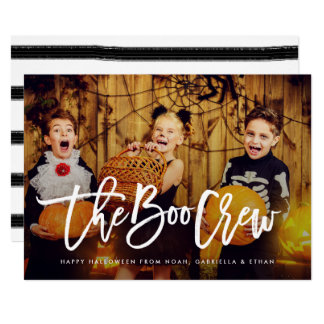 The Boo Crew Halloween Photo Card