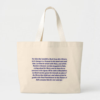 The Book Curse Large Tote Bag