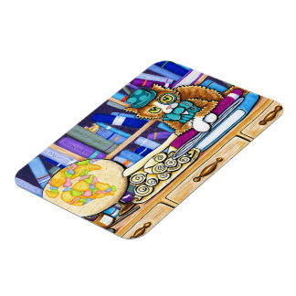 The Book Keeper Rectangular Photo Magnet
